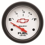 Universal Corvette 1968-2014+ Autometer 2-5/8 inch Fuel Level 0-90 ohm Electronic - GM White
