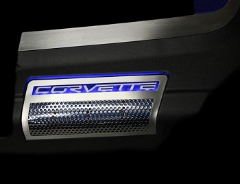 C6 Corvette 09-12 ZR1 2pc Perforated Factory Side Shroud Covers - Illuminated