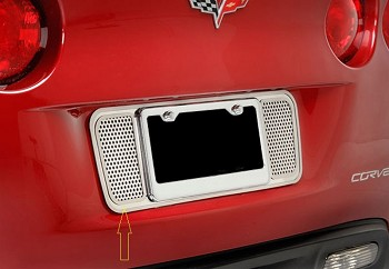 C6 Corvette 2005-2013 Perforated License Plate Frame