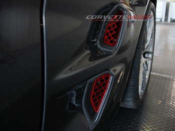 C6 Corvette ZR1 2009-2012 Custom Painted Stainless Side Vents - 4pc