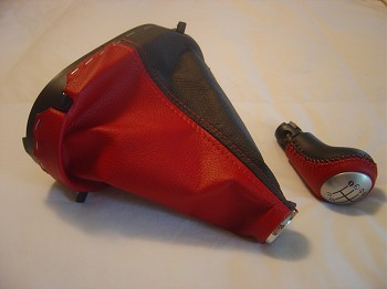 C6 Corvette 2008-2013 Two-Tone Leather Shift Boot with Matching Knob