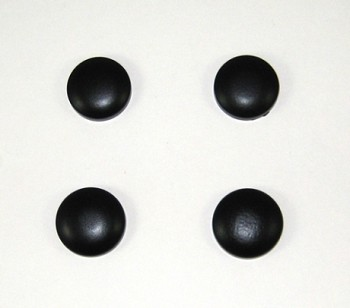C4 Corvette 1984-1996 Rear Hatch Glass Cap Covers - Black Powder-Coated or Chrome