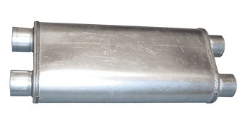 1963-2011 Pypes Performance Universal 2.5 inch Race Pro Dual In / Dual Out Crossflow Muffler