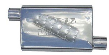 1963-2011 Pypes Performance Universal Violator Off/Center Muffler - Non-Polished