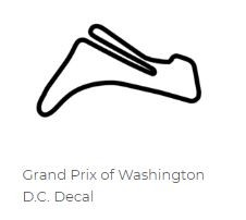 North America Track Outline Decals - Washington DC - Size & Color Selection