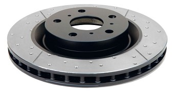 C5 C6 Corvette Base/Z06 1997-2013 DBA Street Series Uni-Directional Drilled/Slotted Rotor - Side Option