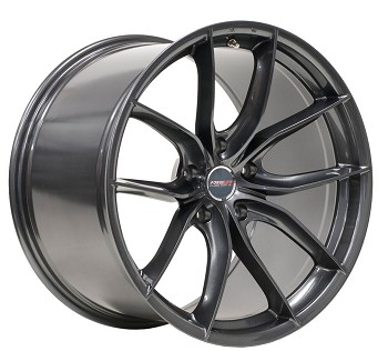 C6 C7 Corvette Base/Z06 2006-2019 Forgeline F01 Anthracite Wheel Set - 19x10/20x12