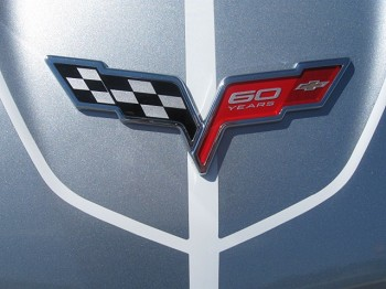 C6 Corvette 2013 60th Anniversary Front & Rear Badge Emblems