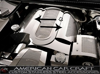 C5 Corvette 1999-2004 Perforated Fuel Rail Covers with Cap Cover