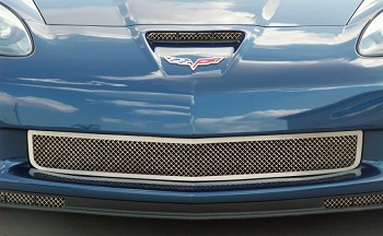 C6 Corvette Z06 / Grand Sport / ZR1 2006-2013 Laser Mesh Grilles - Polished