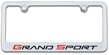 C6 Corvette 2010-2013 Chrome Grand Sport Logo License Plate Frame