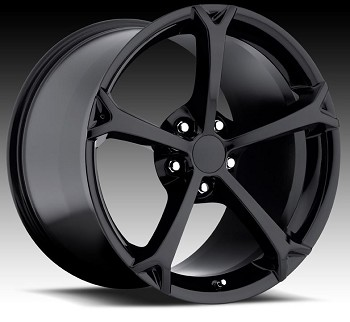 Corvette C6 05-13 Grand Sport Style Wheel Set Gloss Black 18 x 8.5 / 19 x 10