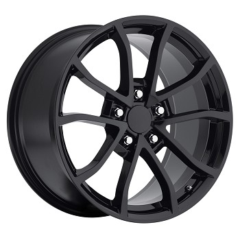C6 Corvette 2013 Corvette Cup Style Wheels (Set) Gloss/Satin Black 18x9.5 / 19x10 2005-2013