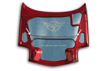 Corvette C5 97-04 Hood Center Brace Polished