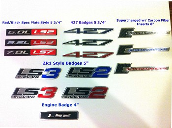 C6 Corvette 2005-2013 Aluminum Badges / Engine Plates Emblems