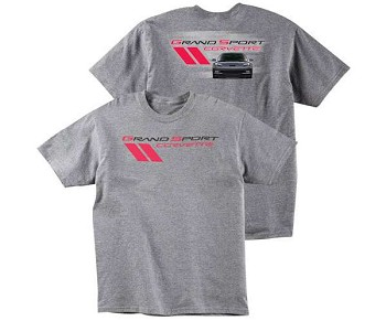 C6 Corvette 2005-2013 Grand Sport Corvette T-Shirt - Gray
