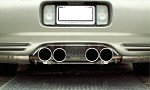 Corvette C5 Exhaust Filler Panel Perforated (Stock Exhaust)