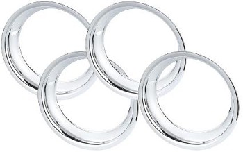 C3 Corvette 1968-1982 Chrome Plated Stainless Steel Wheel Trim Rings - Available in 14in, 15in & 16in