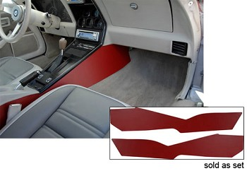 C3 Corvette 1978-1982 Premium Leather Covered Side Trim Panels