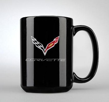 C7 Corvette 2014+ Crossed Flags Logo Coffee Mug