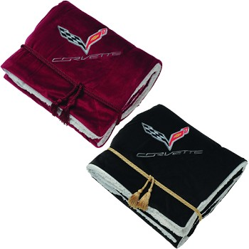 C7 Corvette 2014+ Lamb's Wool Throw Blanket