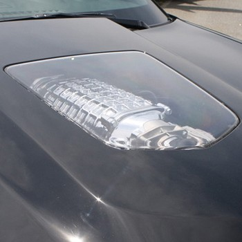 C6 Corvette 2005-2013 Z06 / ZR1 / Grand Sport Corvette ZR1 Hood Replica Polycarbonate Window Insert Only