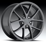Corvette C6 05-13 Z06 Spyder Competition Grey Wheel Set 18x9.5/19x10