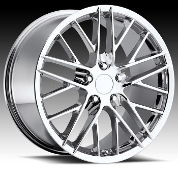 C4 C5 Corvette 1988-2004 Fitments ZR1 Style Corvette Wheels Set Chrome 18x8.5/19x10