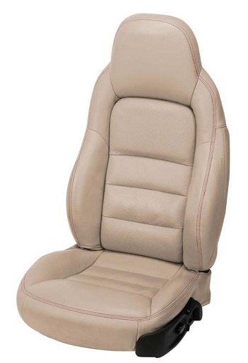 C6 Corvette 2005-2011 Accent-Stitched Leather Seat Covers
