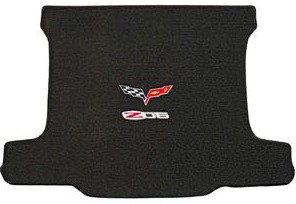 C6 Corvette 2005-2013 Lloyds Z06 & Crossed Flags Velourtex Cargo Mat
