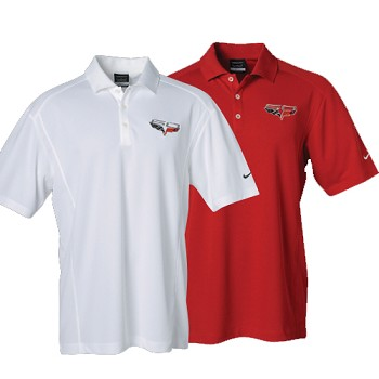 C6 Corvette 2005-2013 60th Anniversary Logo Nike DriFit Polo Shirt