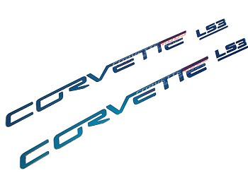 C6 Corvette 2005-2013 Custom Painted Body Colored Fuel Rail Lettering - LS2/LS3/LS7