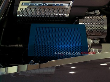 2005-2013 C6 Corvette Custom Painted Steel Fuse Box Cover - Perforated