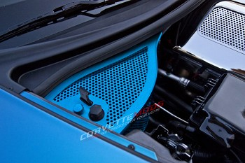 C6 Corvette 2006-2013 Z06 Grand Sport Custom Painted Oil Dry Sump Cover Perforated