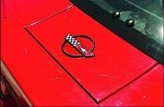 C4 Corvette 1984-1990 Gas Door/Lid Emblem - Black & 24K Gold Options