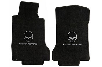 C6 Lloyds Corvette Velourtex Jake Logo Front Floor Mats