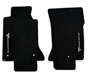 Corvette C5 97-04 Lloyds Floor Mats Sideways Logo Velourtex Series