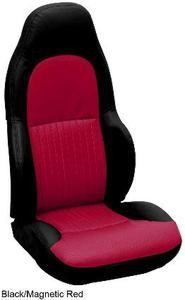 Corvette C5 Leather Seat Skin Covers 2 Tone - Standard Seat