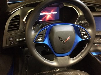 C7 Corvette Stingray/Z06/Grand Sport 2014+ Custom Painted Steering Wheel Trim Bezel