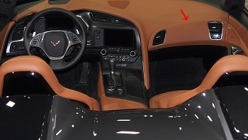C7 Corvette Stingray/Z06/Grand Sport 2014-2019 GM RH Leather/Suede Passenger Dash Panel Insert - Color Selection