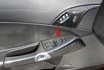 C6 Corvette 2005-2013 Hydro Carbon Fiber Small Window Door Handle Trim