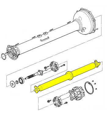 C7 Corvette StingrayZ06Grand Sport 2014 GM Prop Shaft Assembly W High Temp Couplers p 13549 on shop 50 wiring diagram