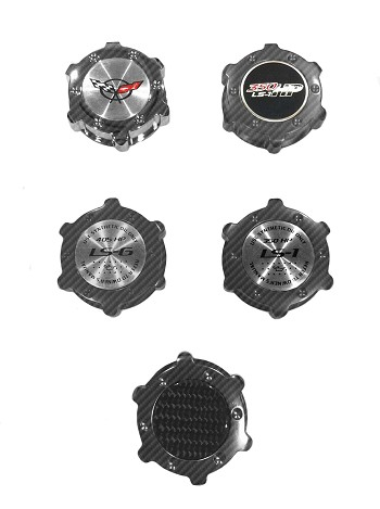 C5 Corvette 1997-2004 Hydro Carbon Fiber Billet Dry Sump Oil Cap Replacements - Color Options