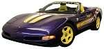 C5 Corvette 1998 Pace Car Decal Kits - Yellow / White