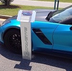 Universal Corvette 1968-2014+ Car Show Billet Aluminum Information Stands - Cut Out Script