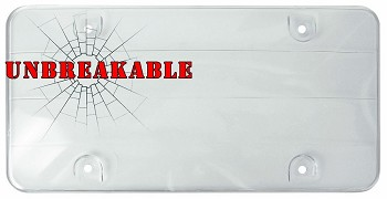 Unbreakable License Plate Shield - Clear or Smoked