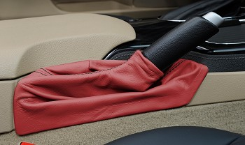 C6 Corvette 2005-2013 Leather Emergency Brake Boot - Solid Colors w/ Accent Stitching