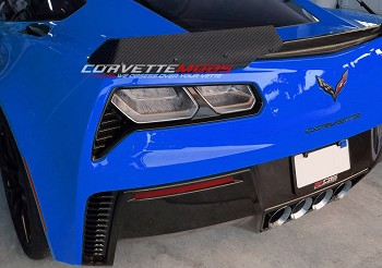 C7 Corvette Z06 2015-2019 Hydro Carbon Fiber Stage 2/3 Wicker Bill Rear Spoiler Wing Upgrade Kit