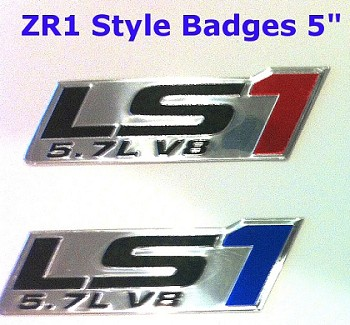 C5 Corvette 1997-2004 ZR1 Style Aluminum Badges/Engine Plates Emblems - LS1