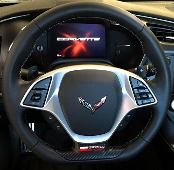 C7 Corvette Grand Sport 2017+ Steering Wheel Vinyl Decal - Color Selection